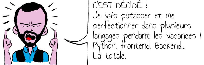 C EST DÉCIDÉ   Je vais potasser et me perfectionner dans plusieurs langages pendant les vacances   Python  frontend  Backend    La totale .jpg